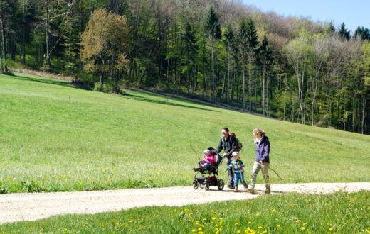 Wandern mit Kinderwagen im Baselbiet