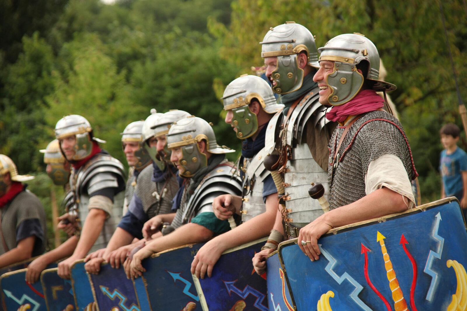 Augusta Raurica Legionaere der Legio XI am Roemerfest Foto Susanne Schenker