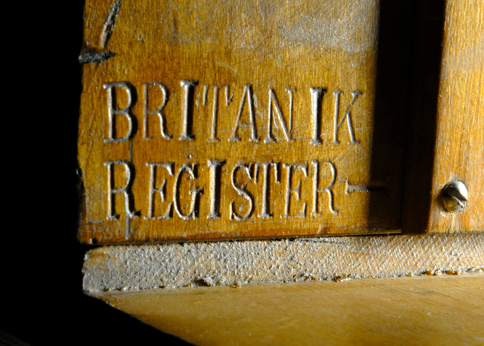 08 MMA 07 Britannic Orgel Hinweis